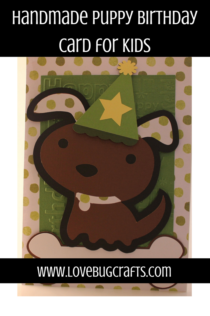 This adorable puppy birthday card is perfect for a little boy who