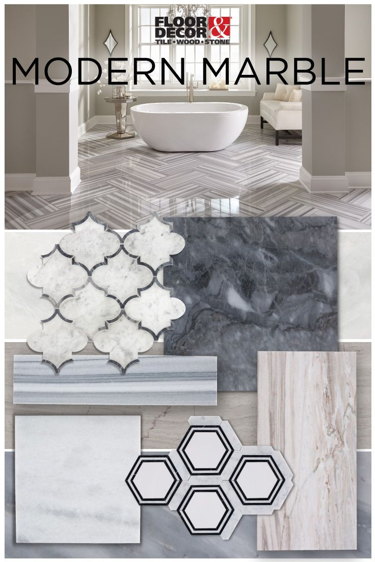 Take advantage of trending shapes and sizes of marble bathroom