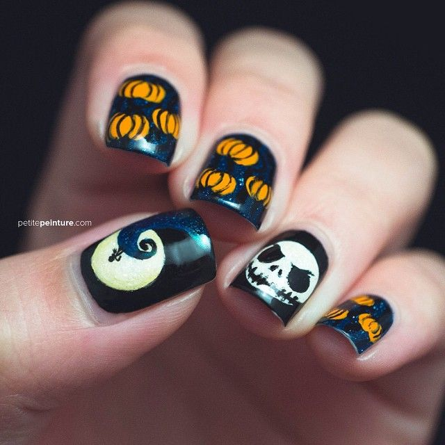 Jack Skellington nail art | Halloween | Pinterest | Jack skellington ...