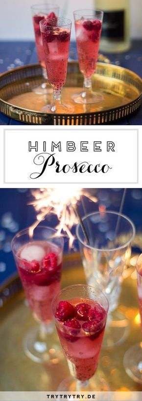 Himbeer Prosecco #alcoholicpartydrinks