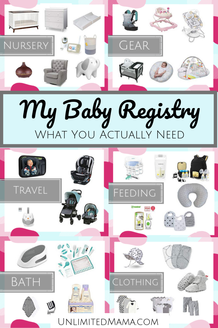 Baby Registry Checklist Must Have Items Unlimited Mama
