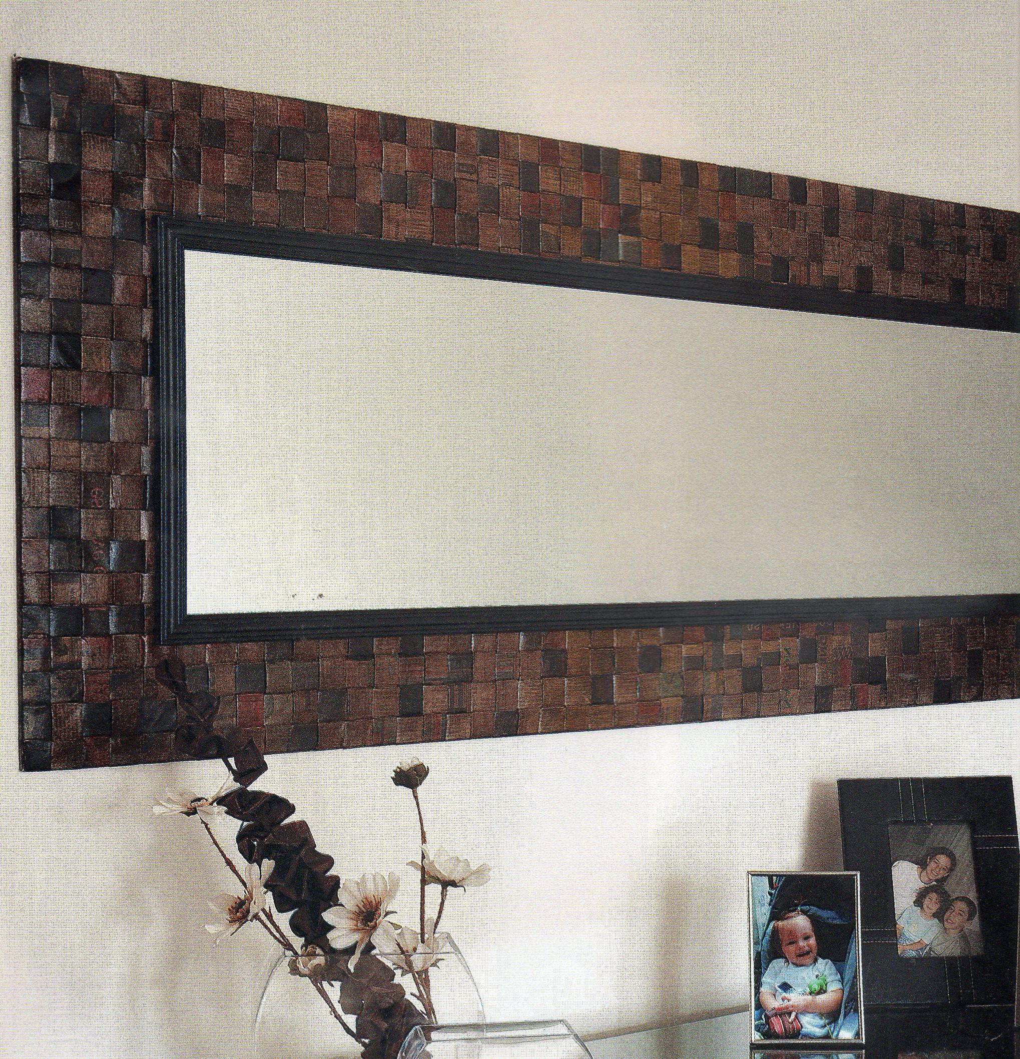 Marco para espejo explicaciones en http grupos for Disenos de marcos de madera para espejos