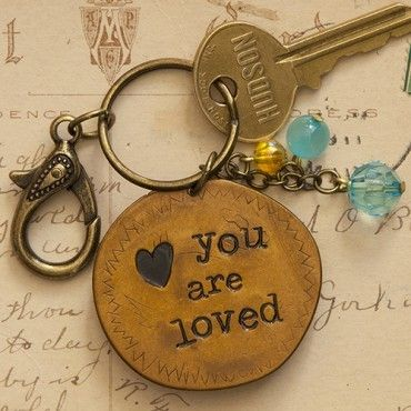 Piace Boutique - Keychain You Are Loved, $9.00 (http://www.piaceboutique.com/keychain-you-are-loved/)