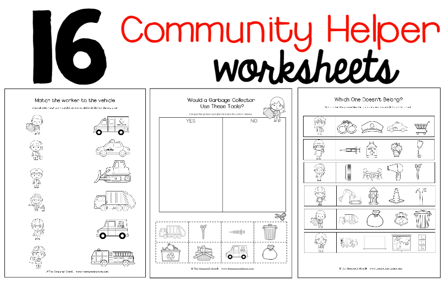 New Community Helpers Theme Pack The Measured Mom Community Helpers Worksheets Community Helpers Worksheets Preschool Community Helpers Kindergarten - View Free Printable Community Helpers Worksheets For Kindergarten Pdf Background