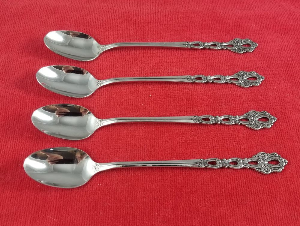 4 iced tea spoons chandelier by oneida community stainless flatware 4 iced tea spoons chandelier by oneida community stainless flatware silverware aloadofball Images