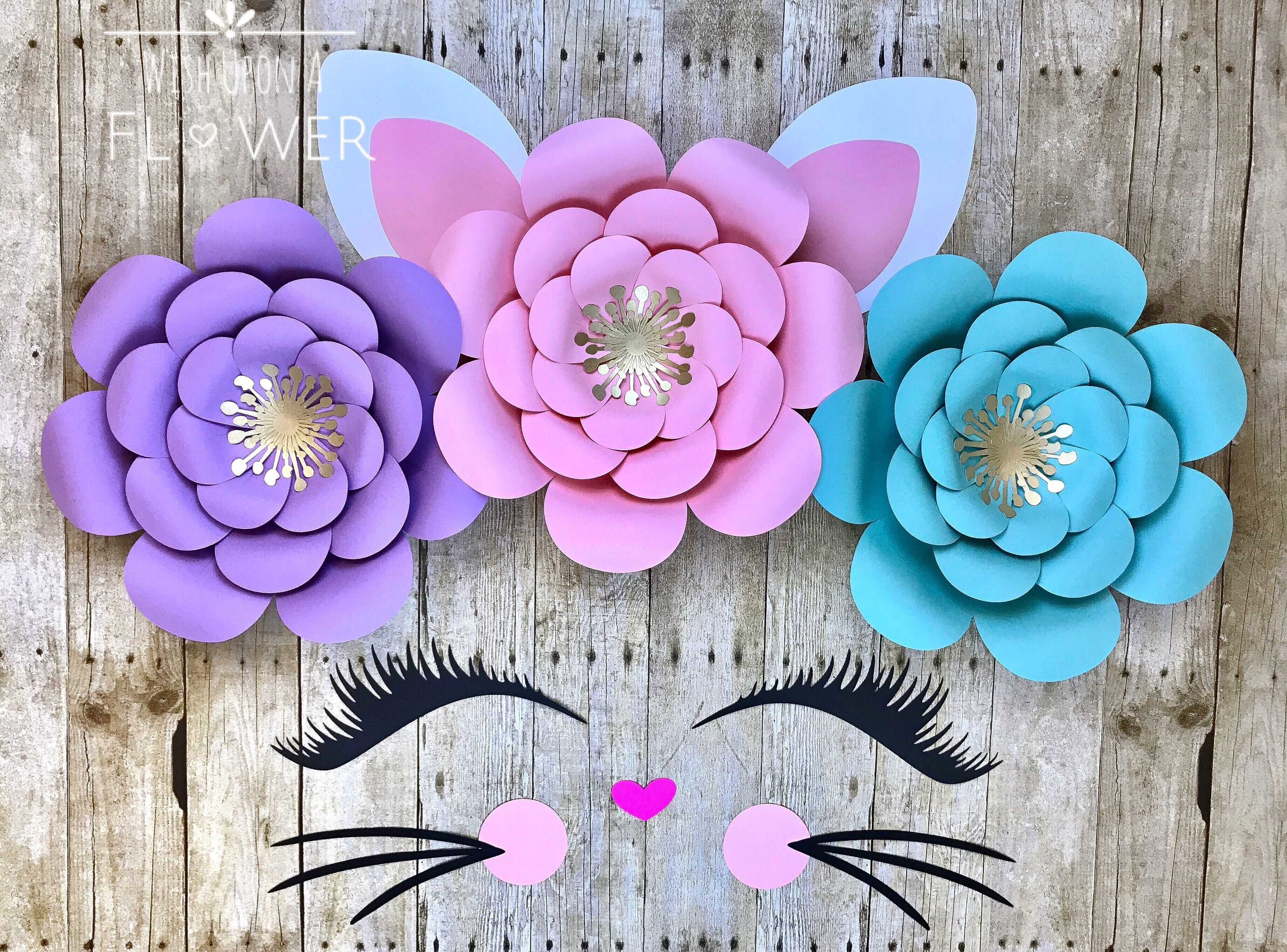 Kitty Party Cat Party Kitty Decorations Cat Decorations Etsy Paper Flower Arrangements Kitten Party Kitten Birthday