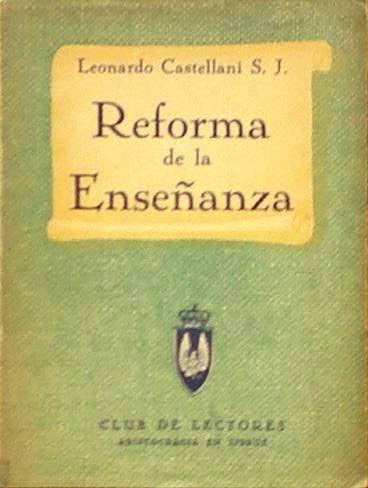 """""""Reforma de la Ensenanza"""", edición del Club de Lectores."""