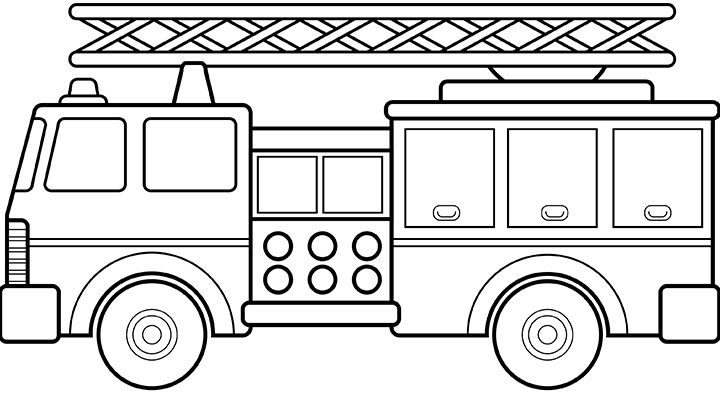 Coloring Sheet Is No Ordinary Truck It Is Called Fire Engine A
