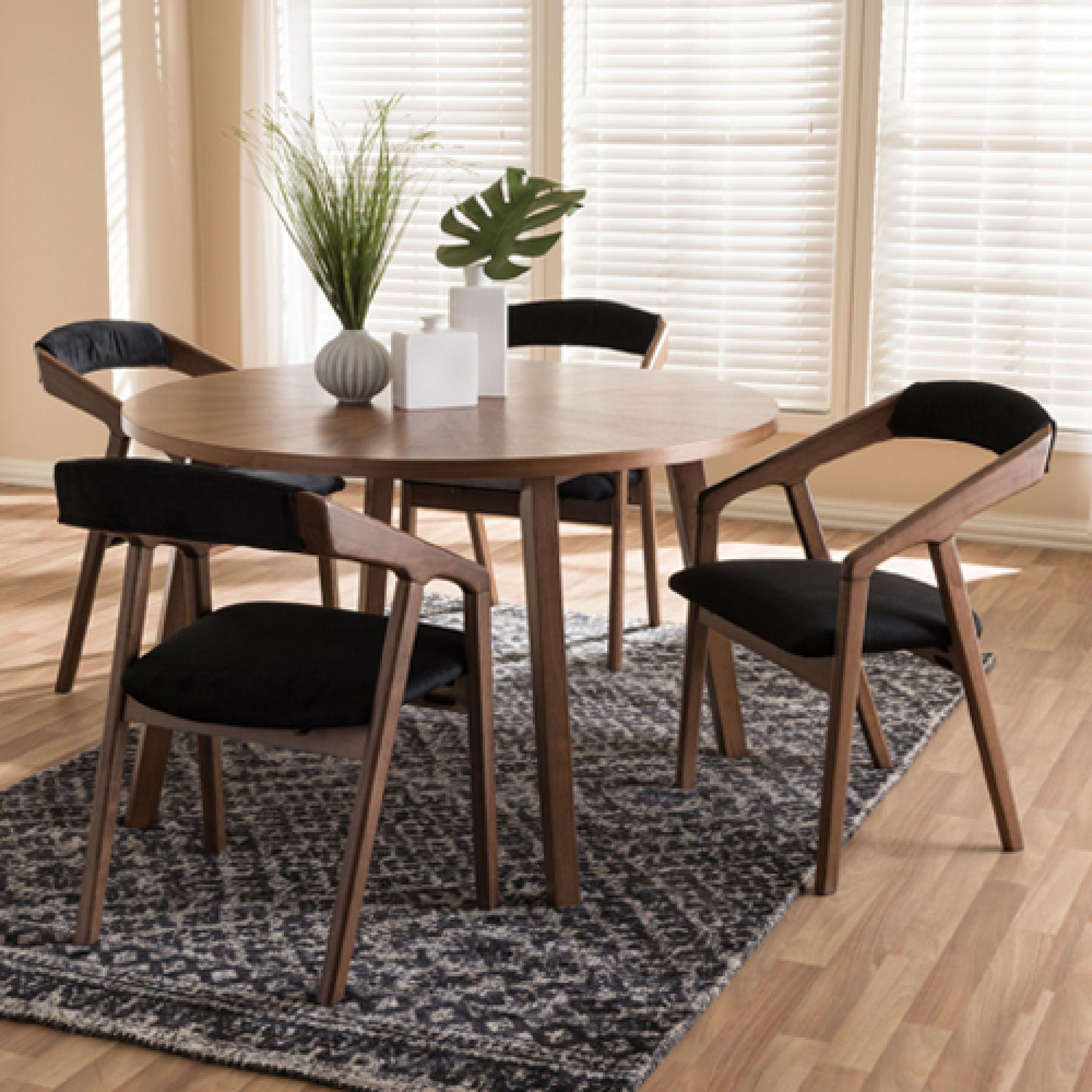Stupendous Baxton Studio Wendy 5Pc Dining Set Boscovs Boscovs Camellatalisay Diy Chair Ideas Camellatalisaycom