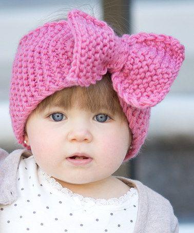 Loving this Rose Pink Big Bow Head Wrap crochet inspiration | ideias ...