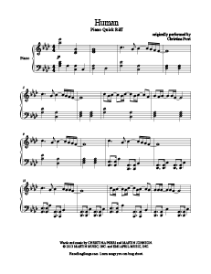 Human Christina Perri Sheet Music