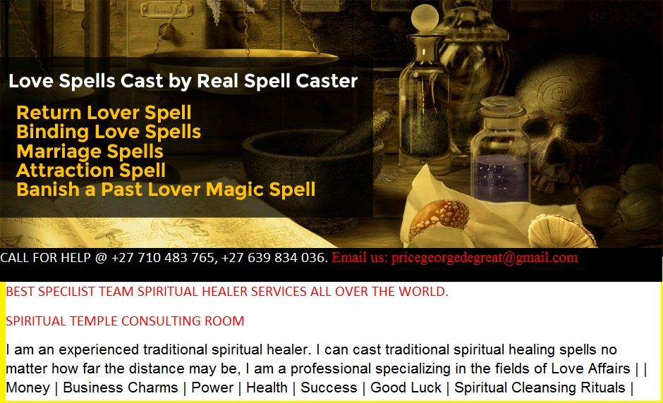Lost Love Spells | Traditional Spiritual Healer For Business, Lost