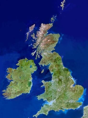 Photographic Print: British Isles, Satellite Image by PLANETOBSERVER : 24x18in #britishisles