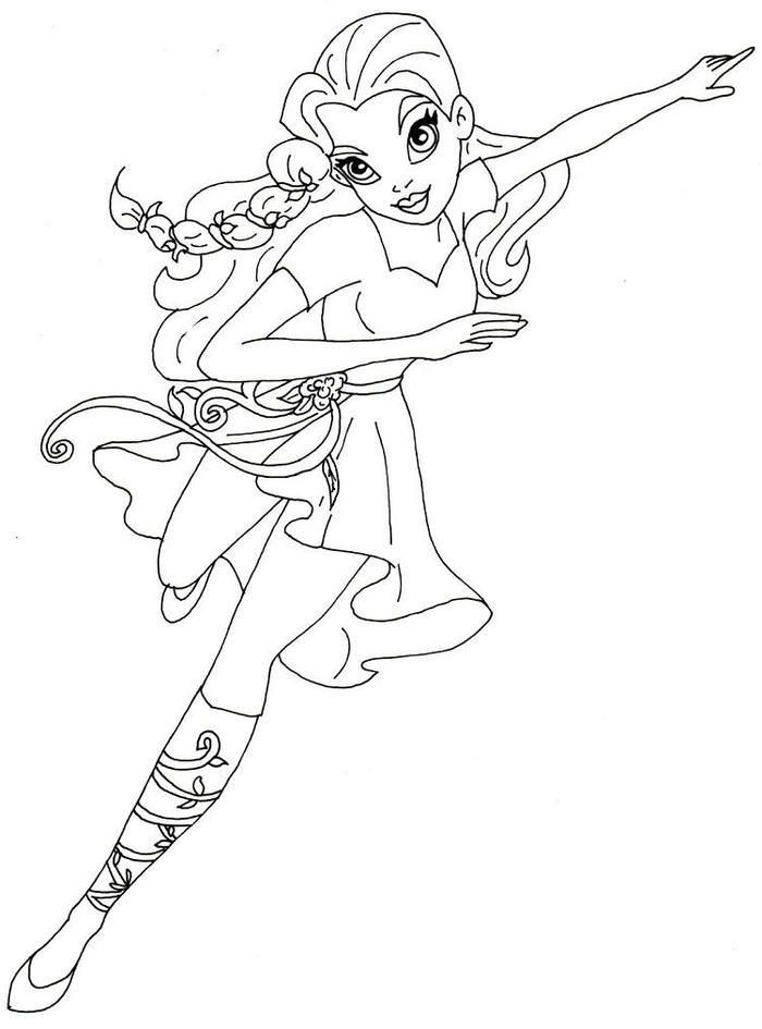 Supergirls Coloring Pages Poison Ivy (With images ...