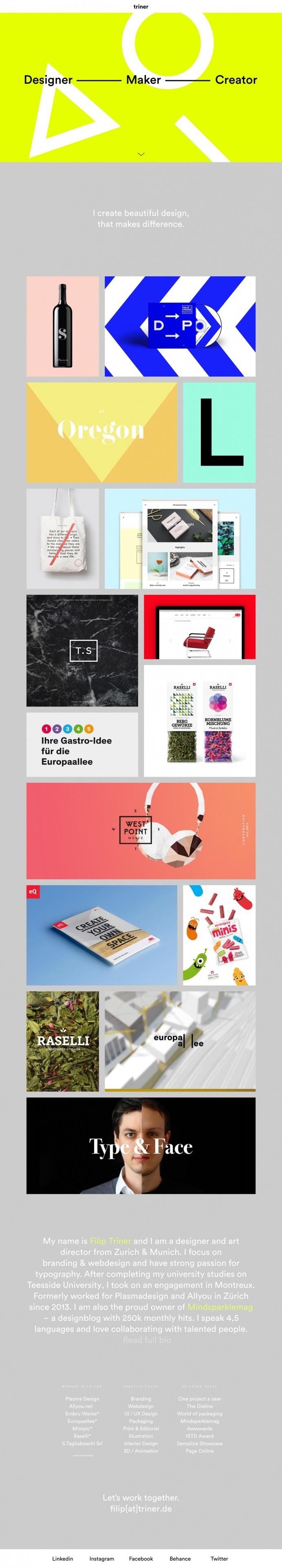 Designer In München filip triner designer maker münchen zürich germany webdesign website