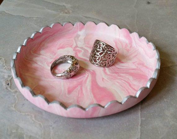 Handmade Marbled Polymer Clay Jewelry & Trinket by AJSCreationsCo