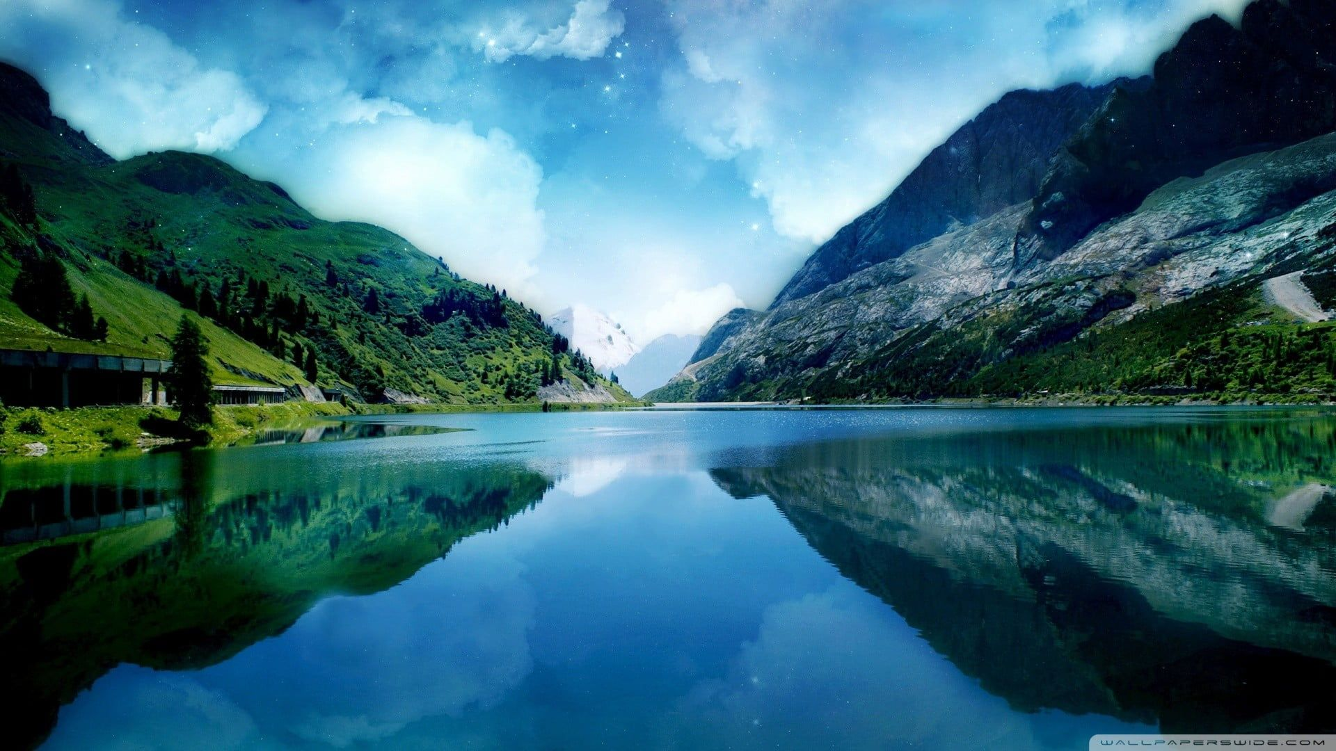 Lake Digital Wallpaper Body Of Water With Reflection Of Mountain Nature Lake Lands Beautiful Landscape Wallpaper Landscape Wallpaper Best Nature Wallpapers