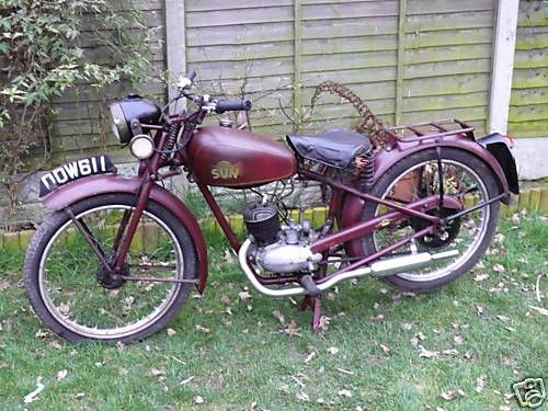 1955 Sun 98 - The Sun Cycle & Fittings Co. Ltd. was an English manufacturer of motorcycles, mopeds and bicycles. The company was based in Aston, Birmingham.