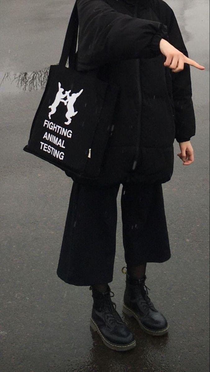 Black streetwear alt y2k
