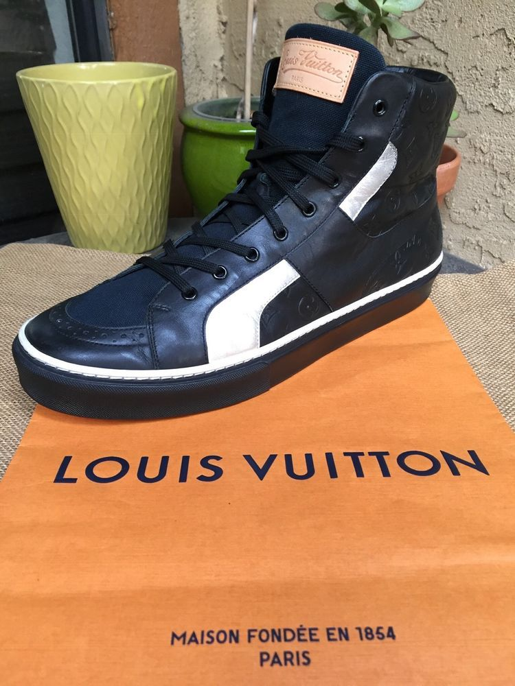 c65958e834f AUTH LOUIS VUITTON MENS SHOES SNEAKERS LV MONOGRAM US SIZE 11 MADE ...