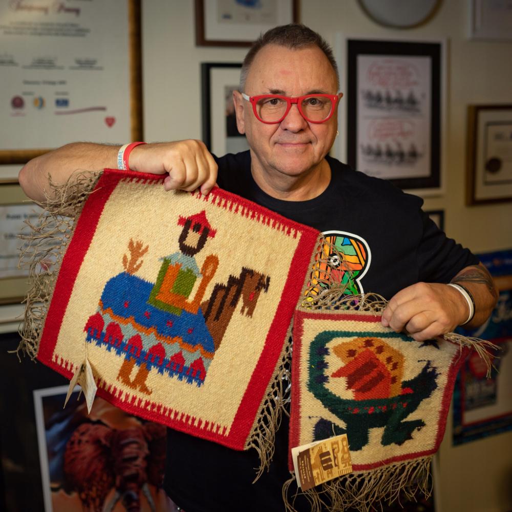 Jurek Owsiak Kilim Lajkonik 8752833680 Oficjalne Archiwum Allegro Kilim Tapestry Rugs