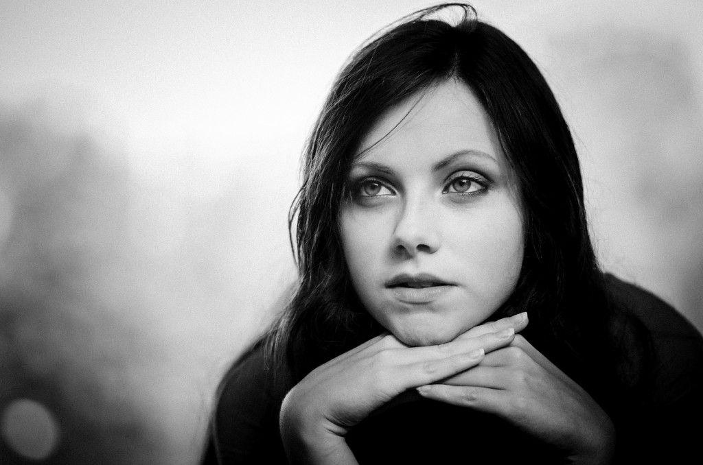 Portrait Noir Et Blanc Femme