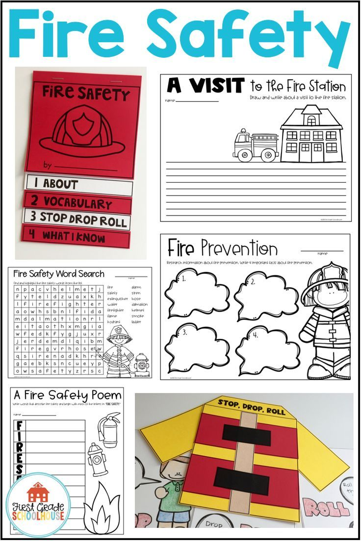Fire Safety Activities and Craft Booklet Fire safety