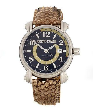 Men's Anniversary python watch by Roberto Cavalli