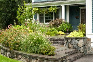 Front entrance landscape design - traditional - landscape - boston - by Terrascapes Landscape Design