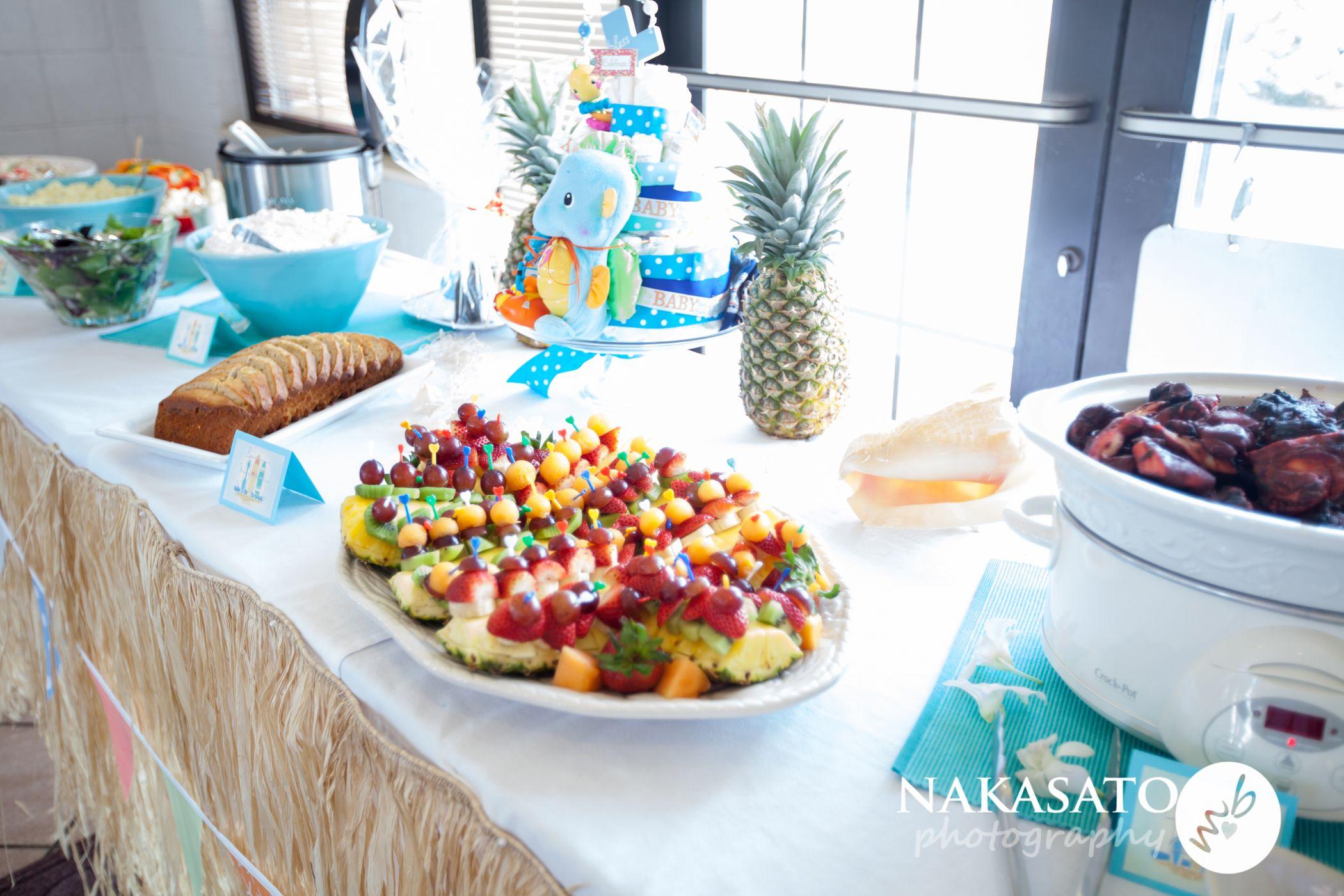 hawaiian inspired menu for baby shower