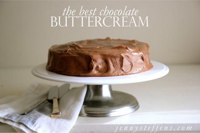 Jenny Steffens Hobick: The BEST Chocolate Buttercream