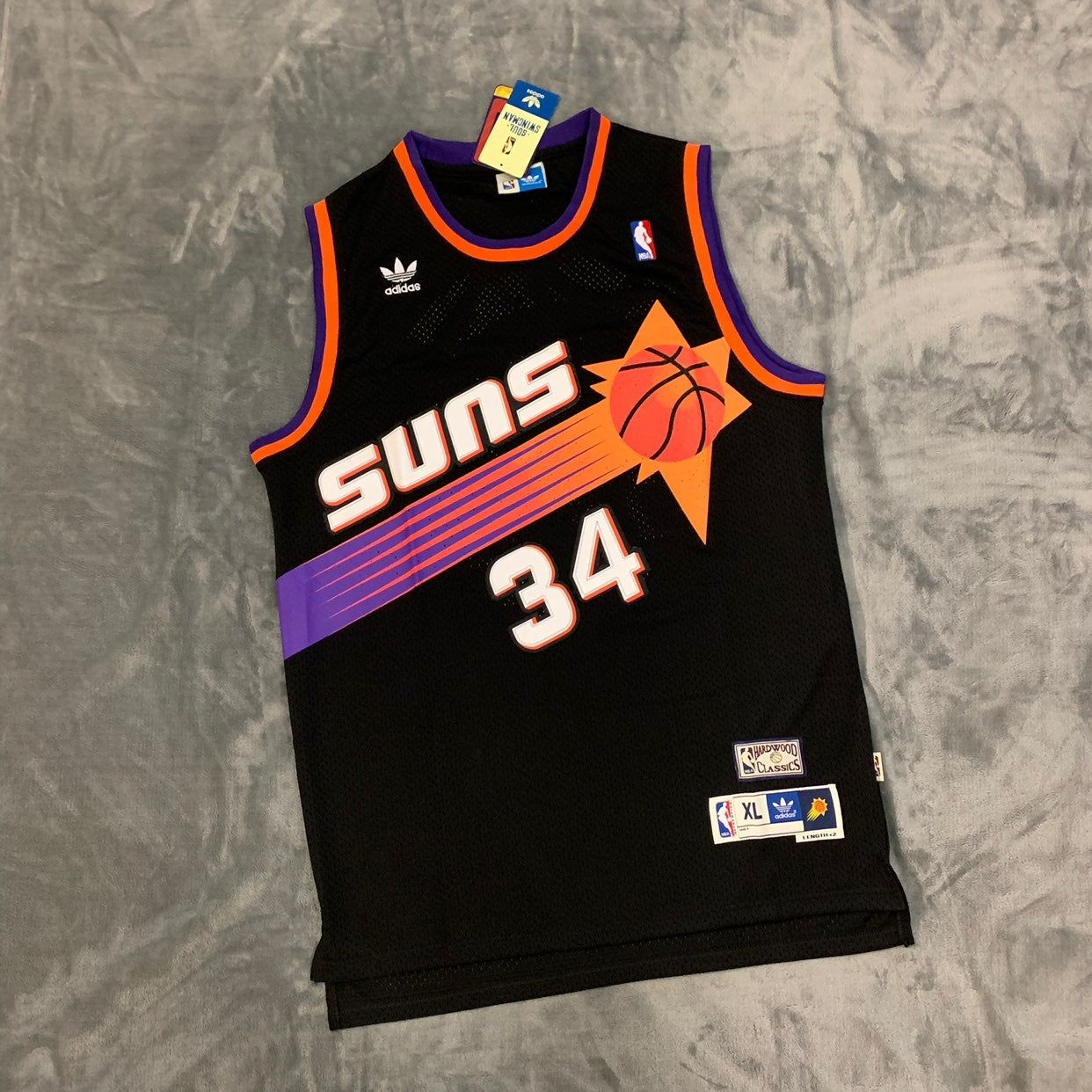 best sneakers 1dcfd 1db33 Charles Barkley Phoenix Suns Black Jersey | Adidas in 2019 ...