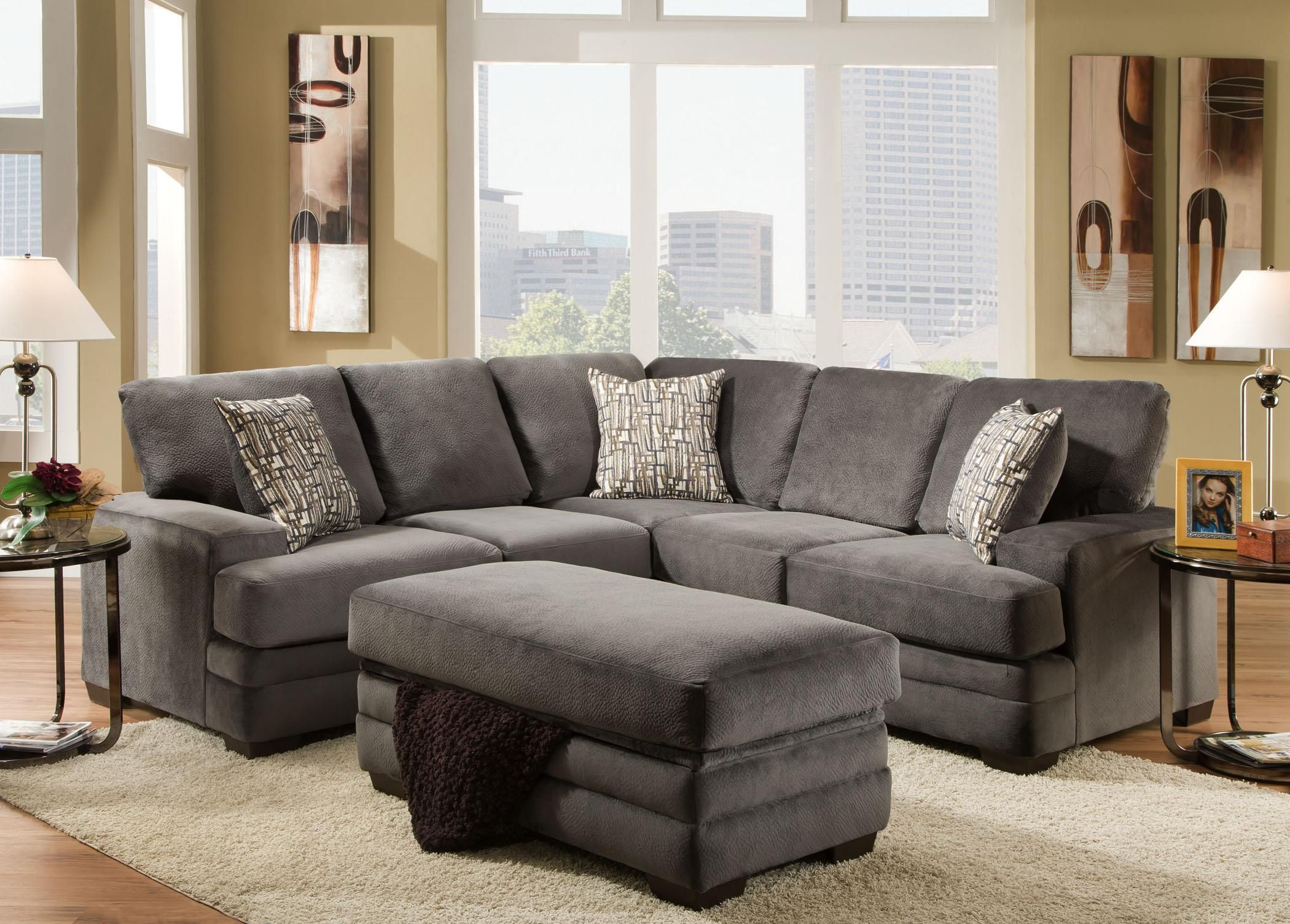 Contemporary Sectional Sofa with 4 Seats - 3500 by American Furniture - Wilcox Furniture - Sofa Sectional Corpus Christi Kingsville Calallen Texas : american furniture sectional - Sectionals, Sofas & Couches