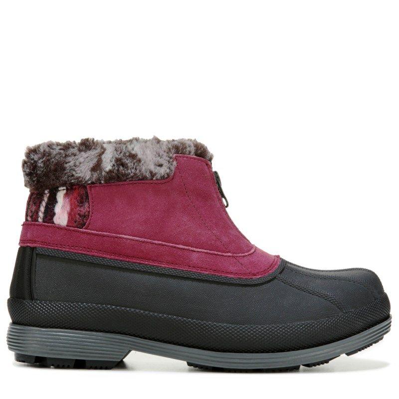 Propet Women's Lumi Ankle Zip Medium/Wide/X-Wide Winter Boots (Berry Suede)