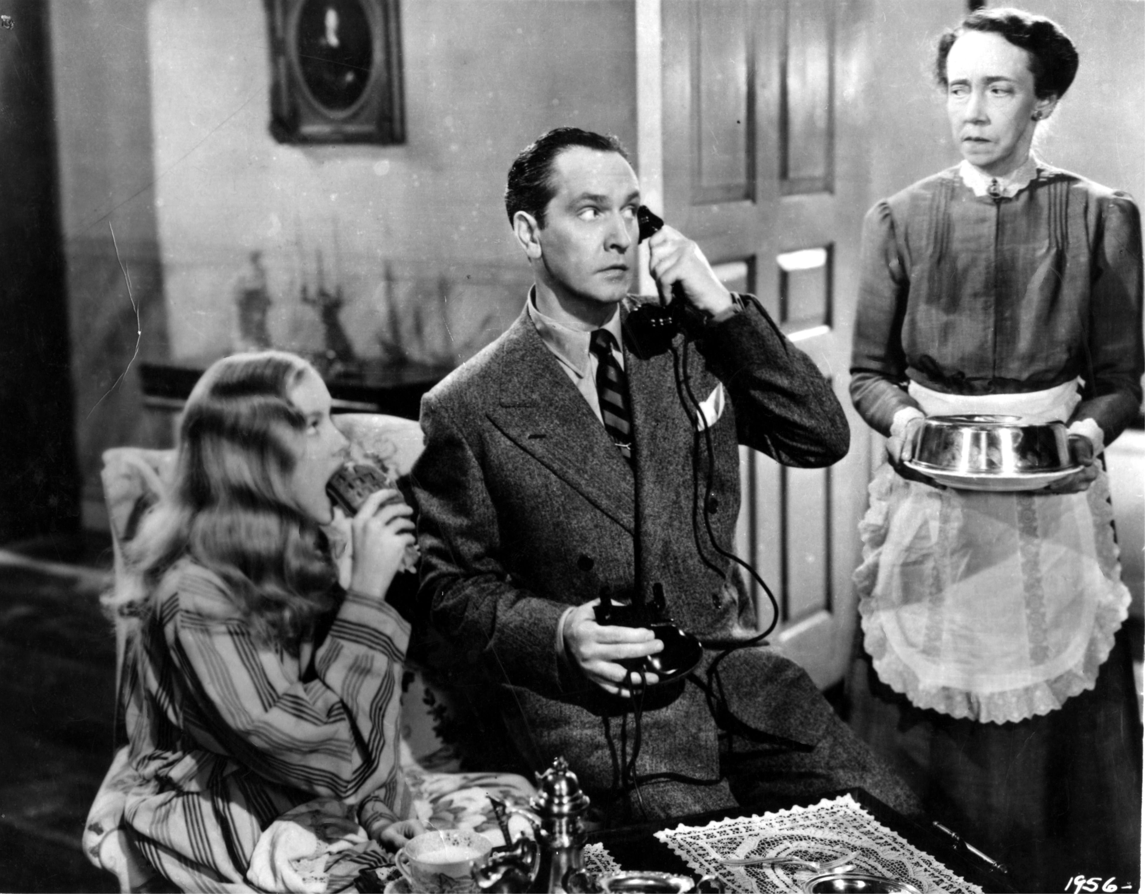 Veronica Lake, Fredric March and Elizabeth Patterson - I MARRIED A WITCH