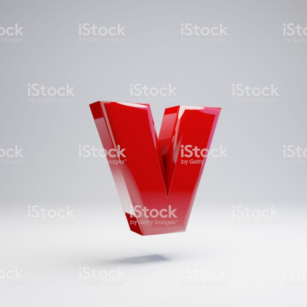 Volumetric Glossy Red Lowercase Letter V Isolated On White Background Royalty Free Stock Photo Lower Case Letters Alphabet Photos Letter V