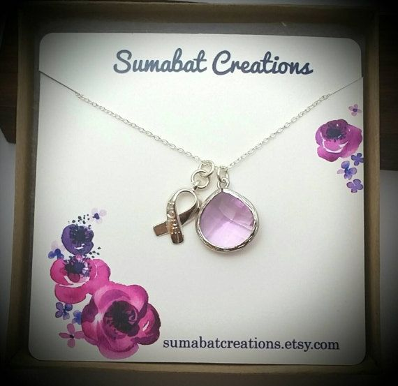 Check out this item in my Etsy shop https://www.etsy.com/listing/513803801/all-cancer-awareness-necklace-lavender