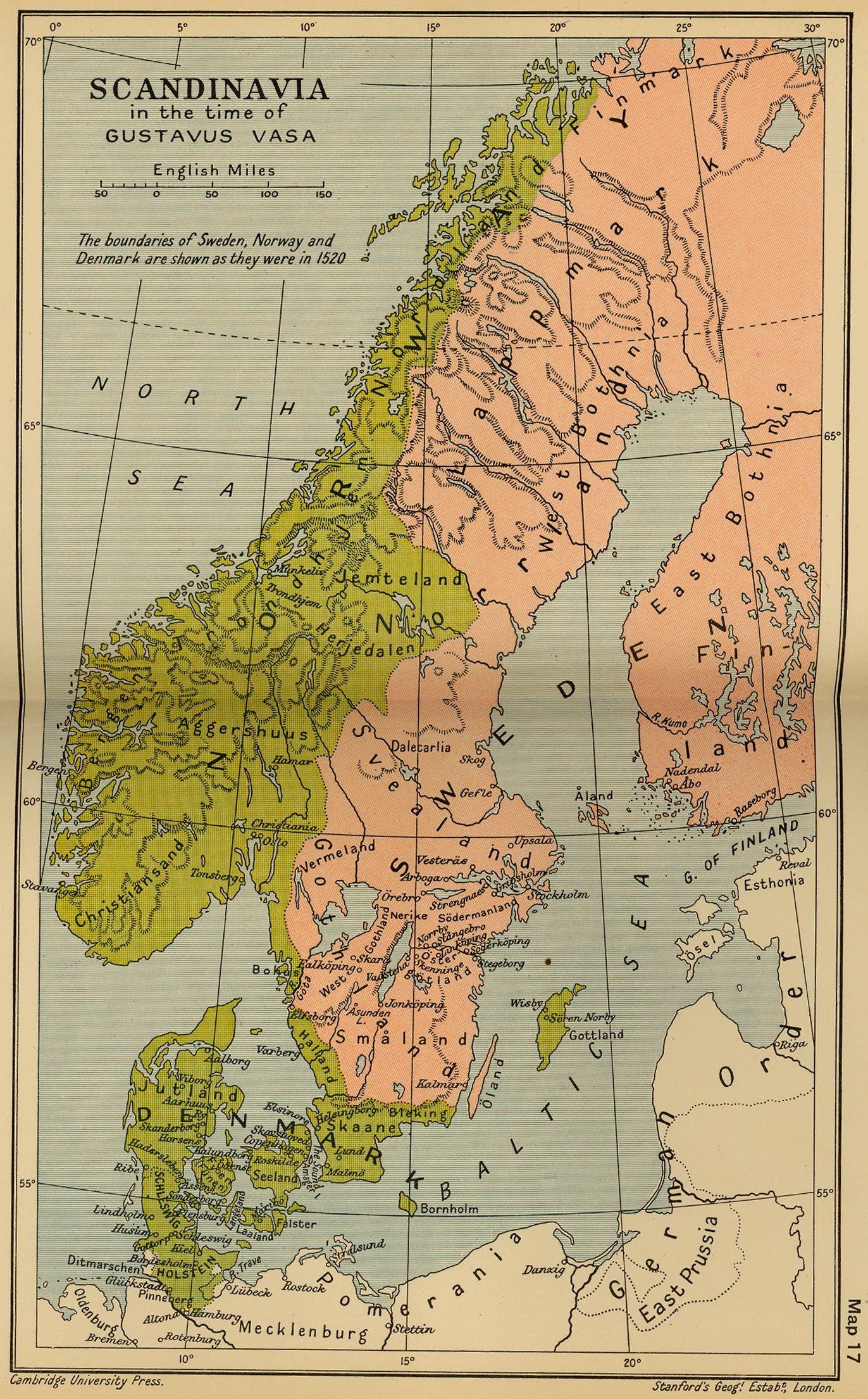 Scandinavia 1523 Jpg 1372 2209 Sweden Map Travel Posters Historical Maps