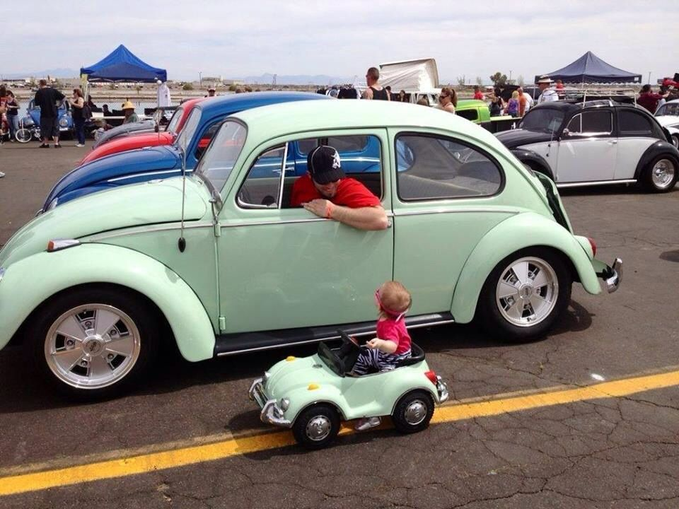 Fathers And Sons VW >> Cute Father And Son Vw Classic Beetles Drive Vw Classic