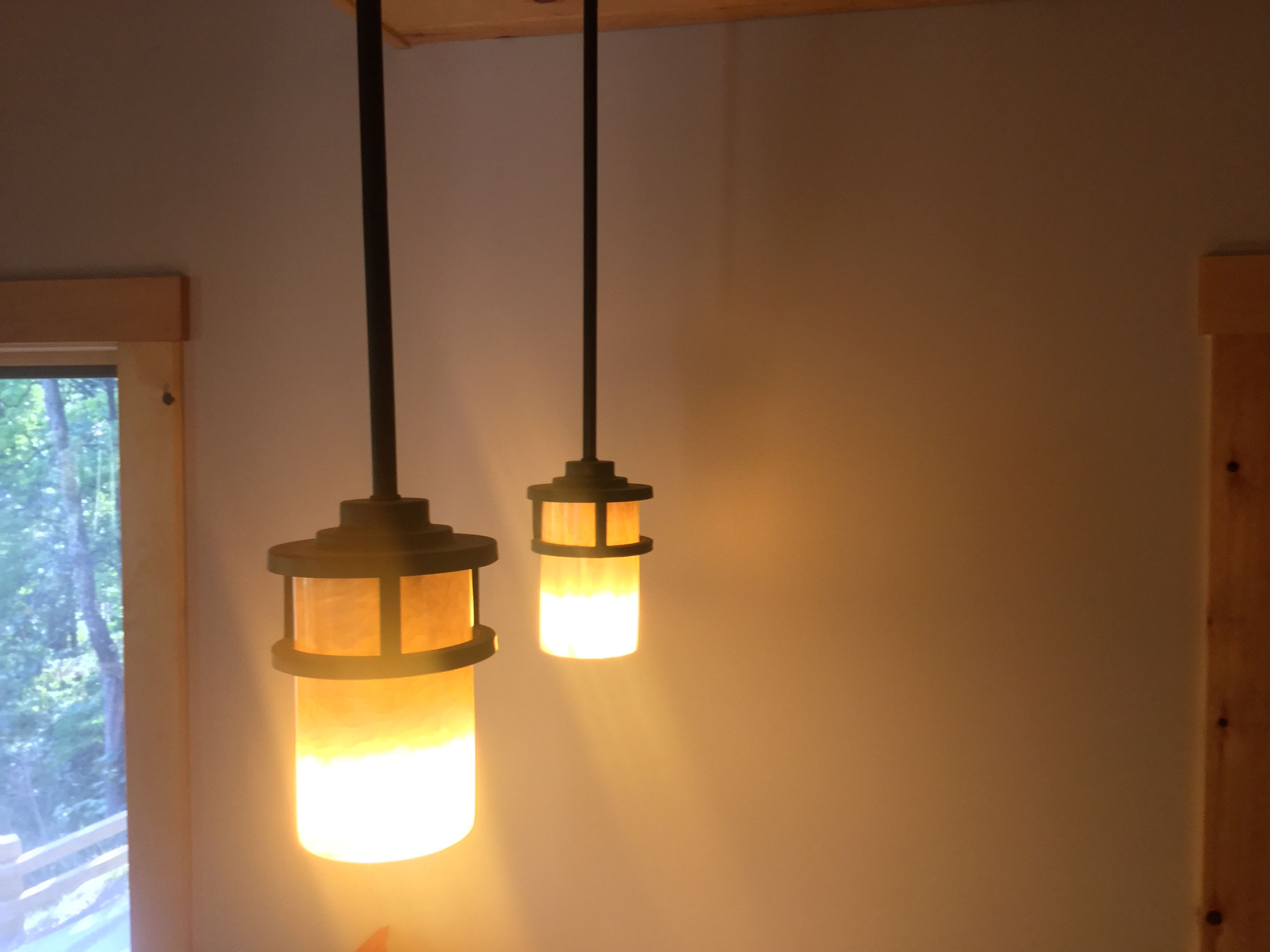 Beautiful bar lights for a kitchen island. | A Place To Call ...
