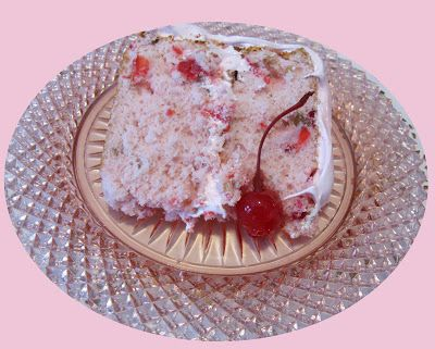 Food for A Hungry Soul: Maraschino Cherry Cake with Fluffy Cherry Frosting