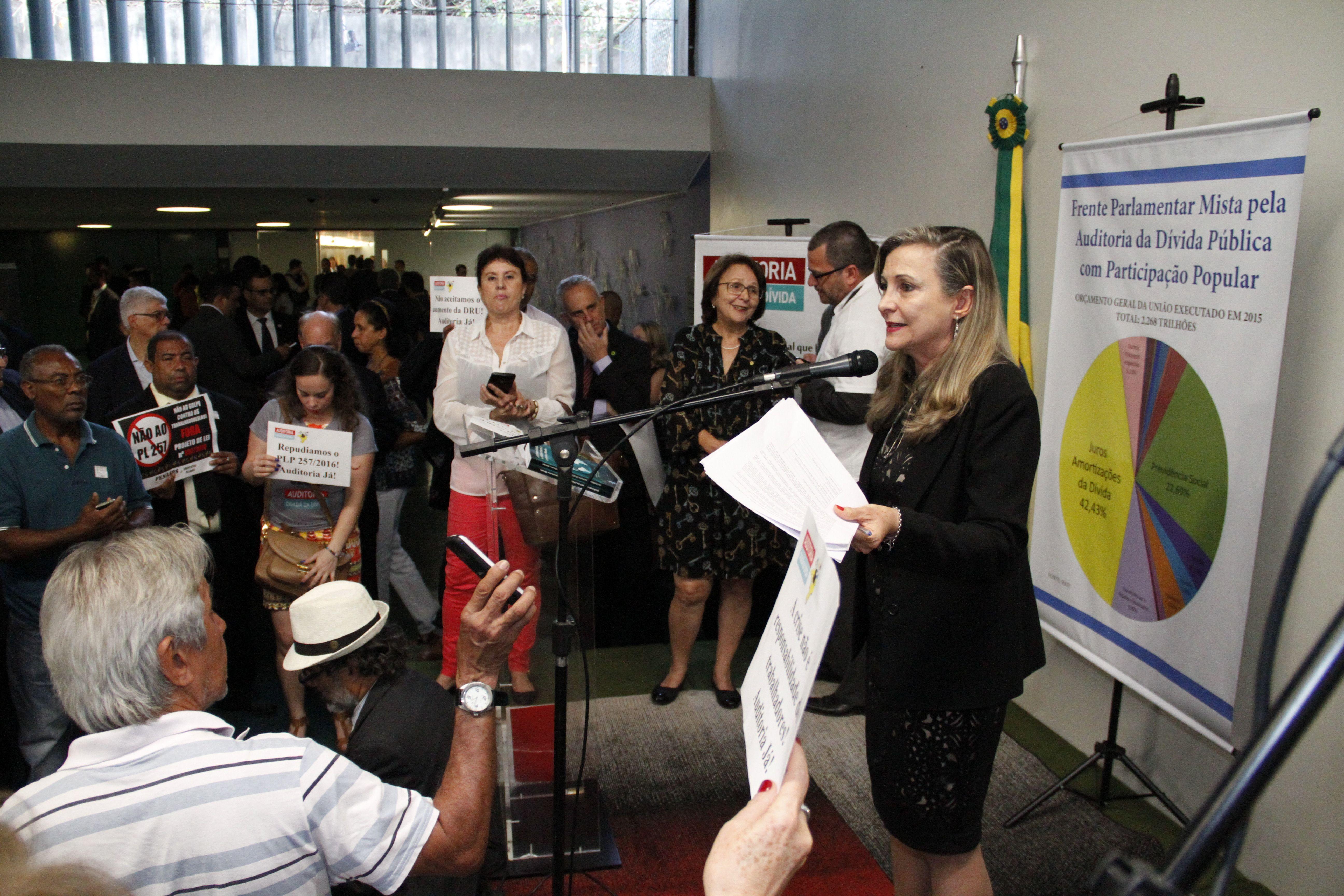 Frente Parlamentar de Auditoria da Dívida Pública é lançada na Câmara dos Deputados - SINDIPOL / DF