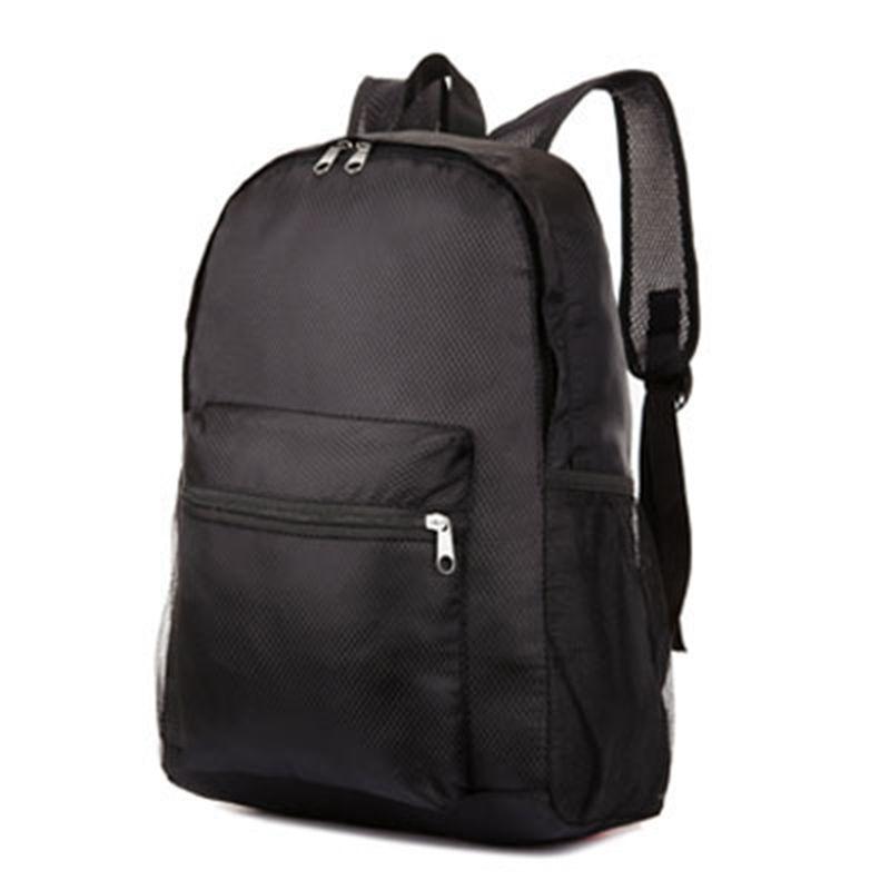 남성 및 여성 경량 접이식 여행 가방 방수 나일론 레저 어깨 가방 여행 휴대용 대용량 배낭