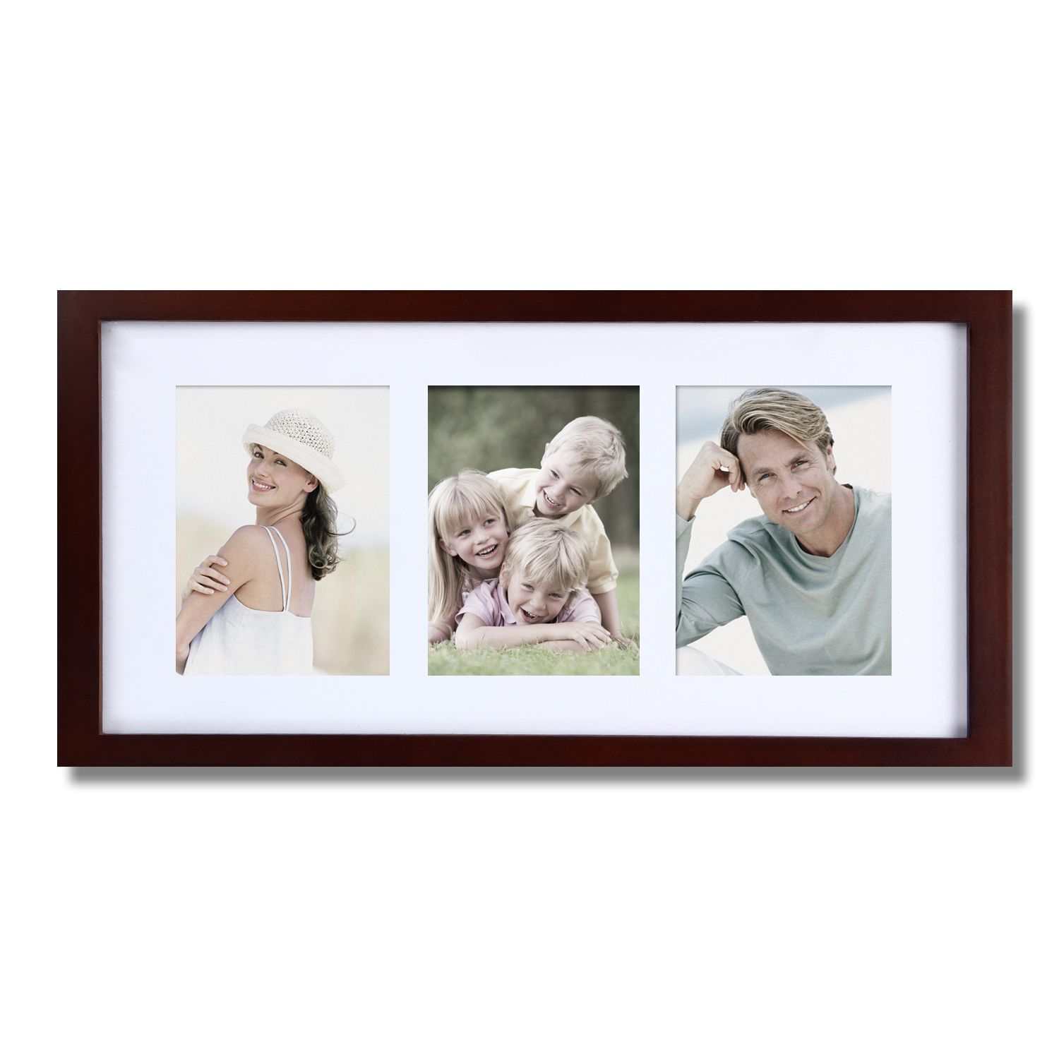Adeco Decorative Walnut Color Wood Wall Hanging Picture Photo Frame ...