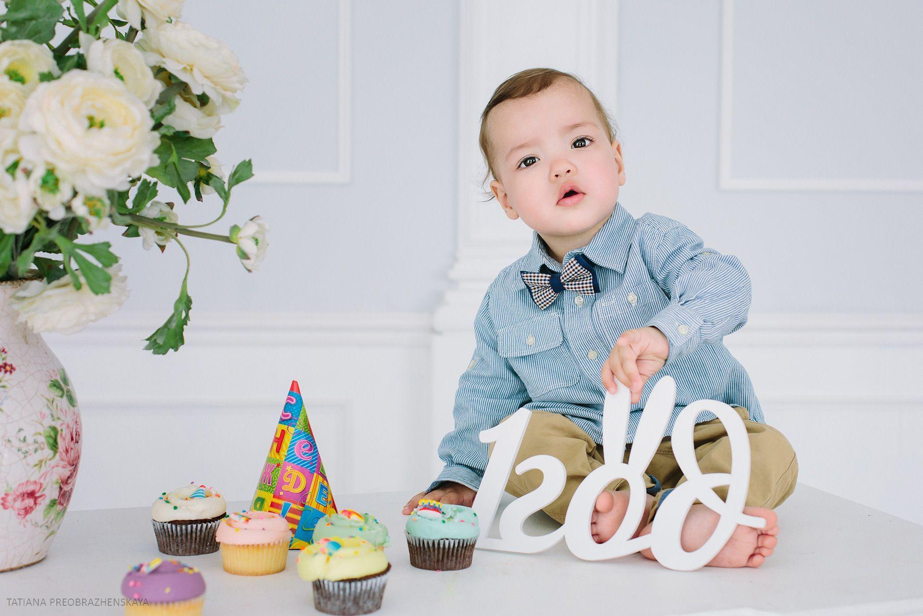 первый день рождения, детская фотосессия, 1 год, день ...