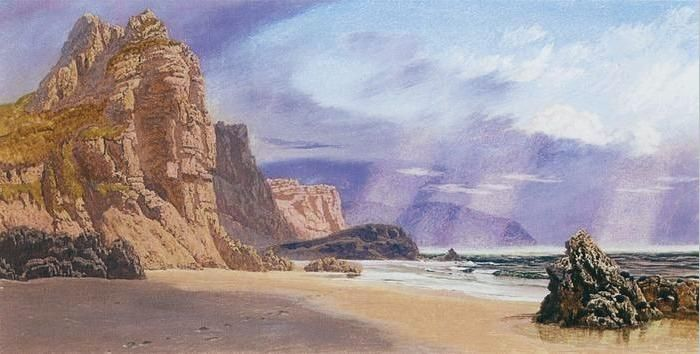 Mewslade near Worm's Head, 1888