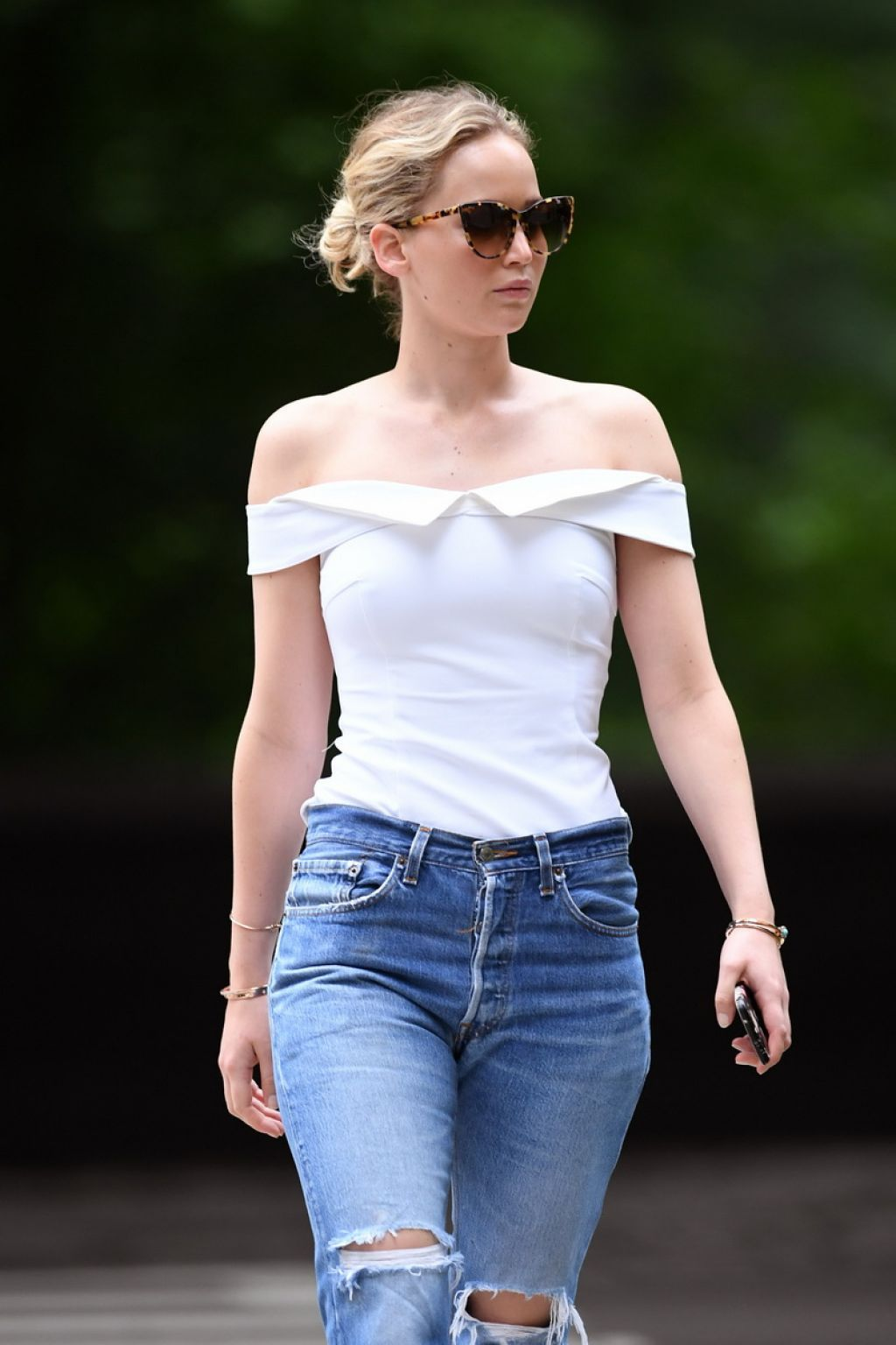 Inez Busty Simple jennifer lawrence walking at central park in new york city