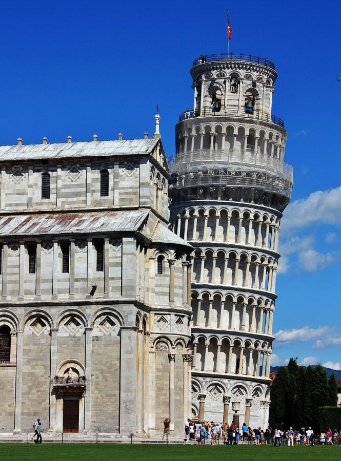 Torre de Pisa en la Toscana de Italia