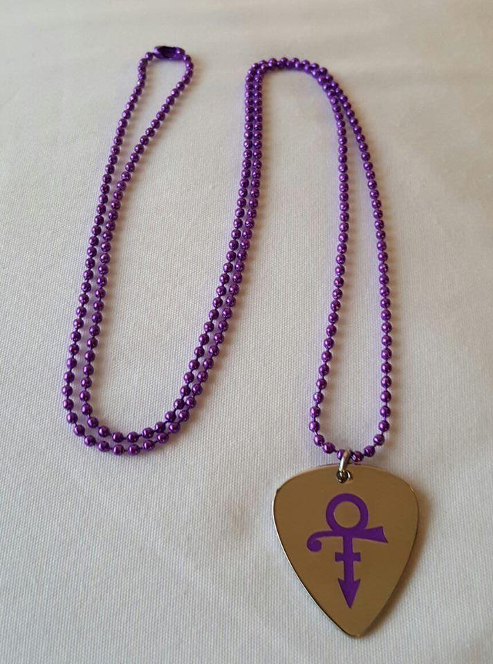 Prince Roger Nelson Purple Love Symbol Guitar Pick W Free Purple