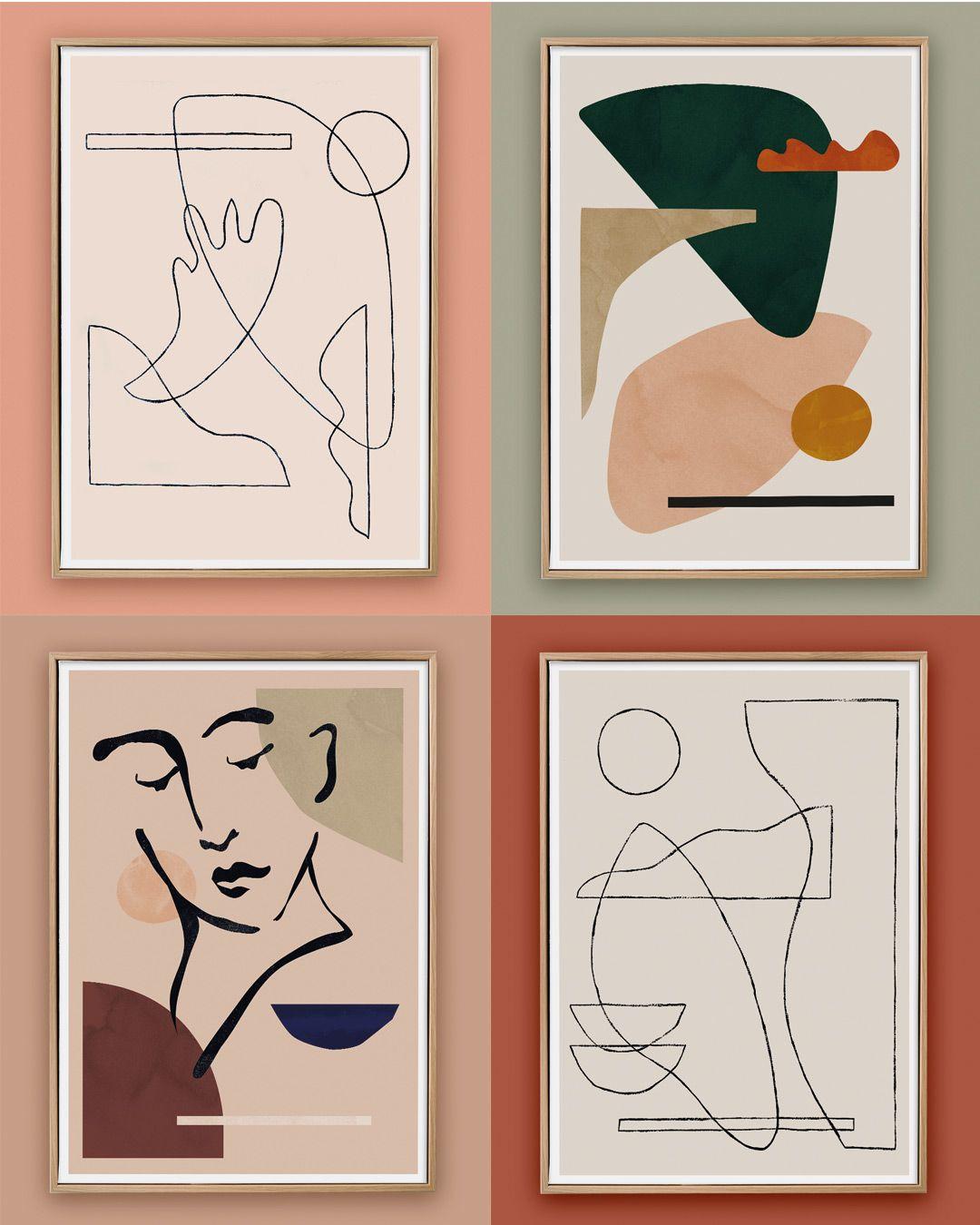 Photo of minimalist artworks